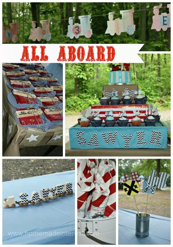 Train Birthday Party {www.homemadeinterest.com}