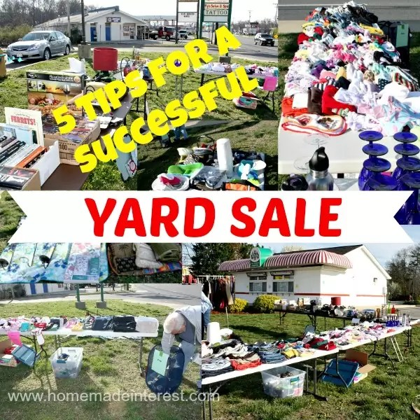 5 Tips for a Successful Yard Sale. Advice on how to host a yard sale or a garage sale, including how to price items, organize sale items, and how to make the most out of your yard sale so you sell all of your junk!