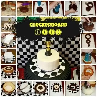 Checkerboard Cake Tutorial {www.homemadeinterest.com}