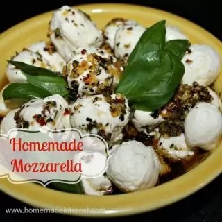 Homemade Mozzarella {www.homemadeinterest.com}