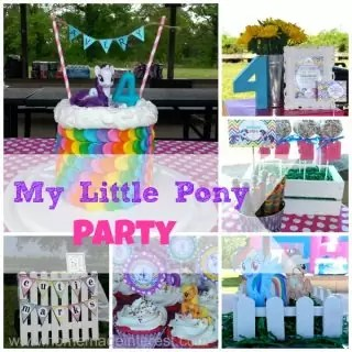 My Little Pony Rainbow Birthday Party {www.homemadeinterest.com}