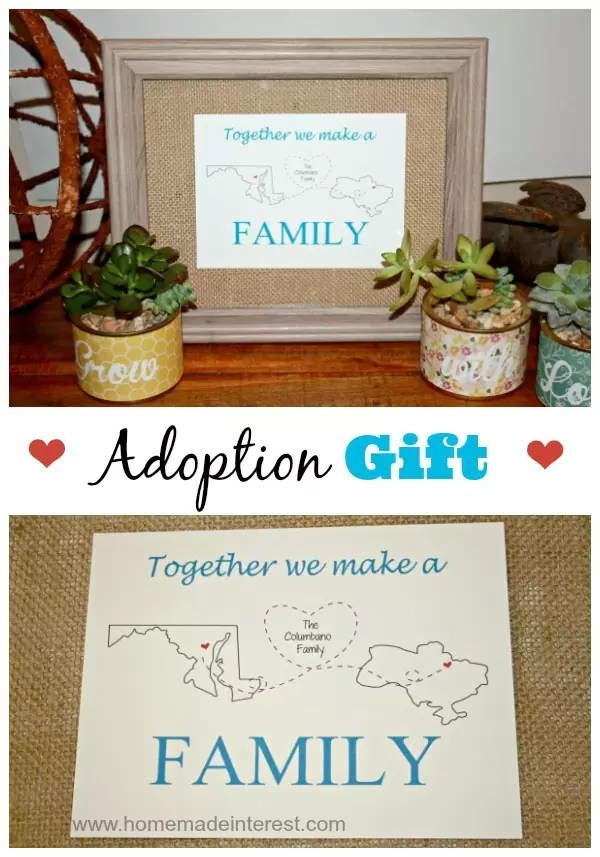 Personalized Adoption Printable Gift