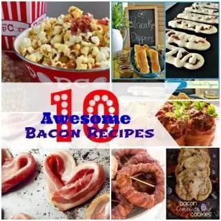 10 Awesome Bacon Recipes {www.homemadeinterest.com}