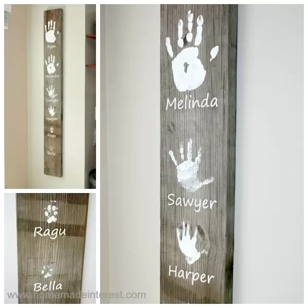 This Family Handprint Plank is a simple craft that your whole family can help you make. It is a great way to preserve those childhood memories.