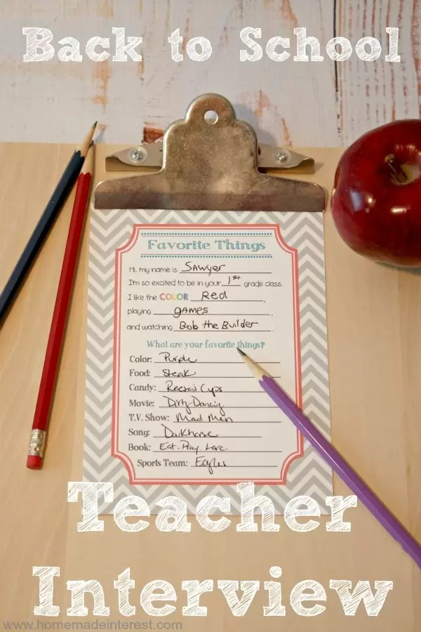 This Back to School Teacher interview is a must-have! It's going to make buying the perfect teacher gift so much easier.