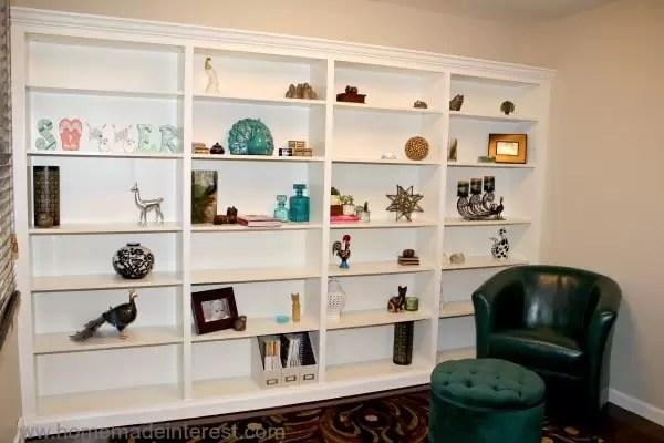 Ikea Hack Billy-to-Built-Ins {www.homemadeinterest.com}