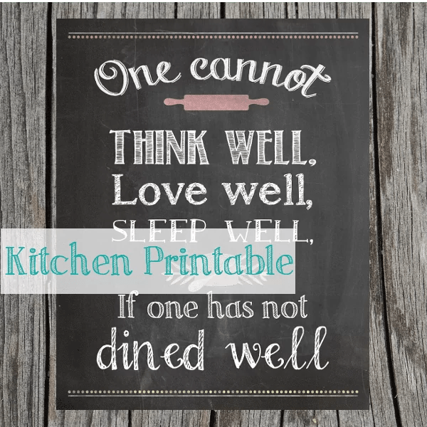 Kitchen Printable {www.homemadeinterest.com}