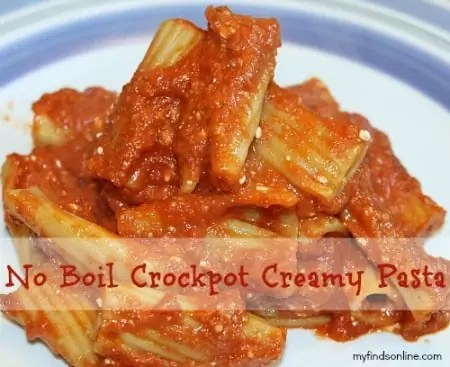 No Boil Crockpot Creamy Pasta