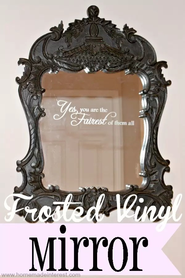 This is a super easy way to add a frosted design to glass or a mirror. Makes a great personalized gift for friends or family.
