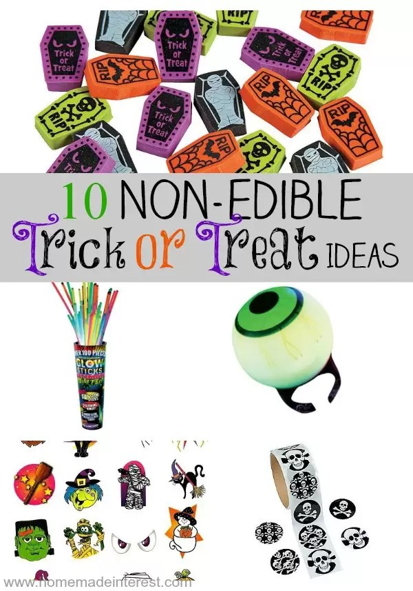 Kids get lots of candy for Halloween surprise them with something different. 10 non-candy, non-edible, Halloween treats.