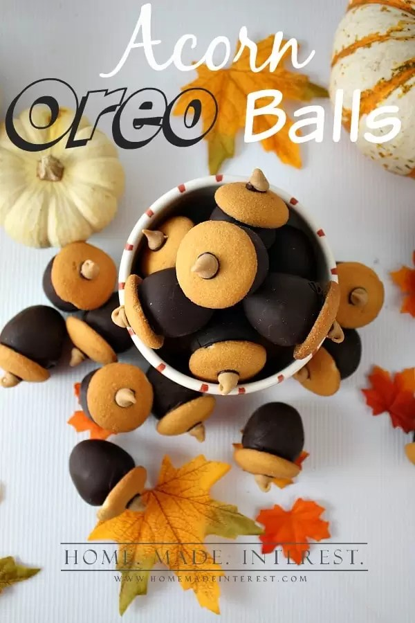 Acorn OREO balls are simple to make all you need is OREO cookies, cream cheese, and melted chocolate to make a delicious OREO cookie ball.