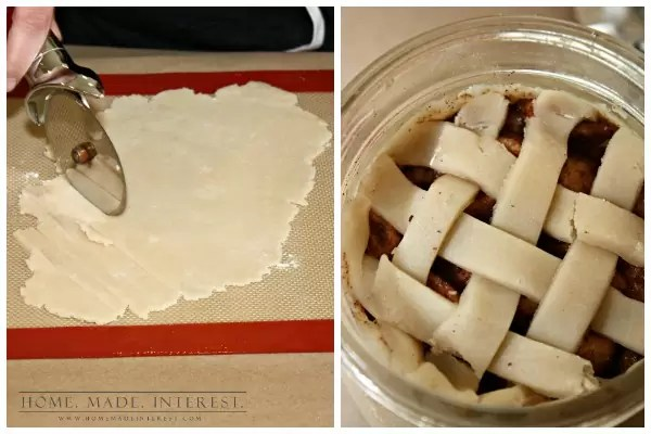 I love giving people homemade gifts, especially edible ones. If that git happens to come in a jar bonus points! This easy apple pie in a jar recipe can be made quickly and one recipe makes 4 pies so you can give multiples to your friend or make 4 gifts at one time! We've even got a printable gift tag for you all you have to do is print it out.