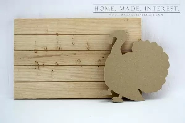 Give Thanks Turkey Slat Sign is a simple thanksgiving decor craft that reminds you of all the things you have to be thankful for.