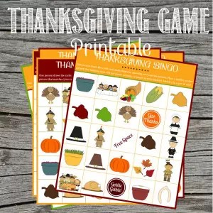 Thanksgiving is a day to spend with family so we've created a simple printable craft for adults and kids to play together. The game is easy and the kids will love trying to get 5 in a row first!