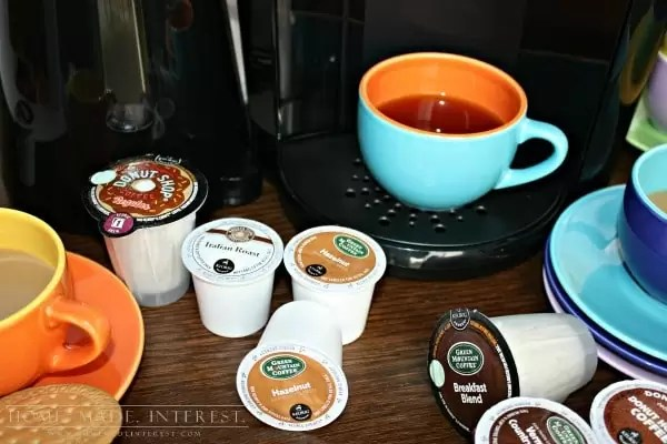Whether you are a coffee drinker or not the Keurig 2.0 is handy to have around the house. You can make coffee, hot chocolate, tea, apple cider, etc. AND the new Keurig 2.0 makes cups and a carafe so it is great for dinner parties! If you are a coffee lover and you want to try something new check out our recipe for Iced Cheesecake Coffee.