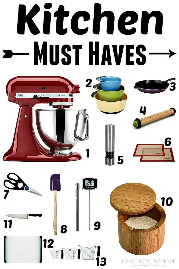 13 items for your kitchen that you MUST HAVE! They will make your life so much easier. These kitchen gadgets make cooking fun!