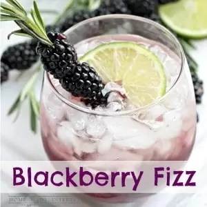 This is a fun alcoholic drink recipe is made with blackberries and Canada Dry Ginger Ale® fancied up with a blackberry and rosemary skewer. Beautiful and delicious!