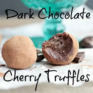 It is simple to make your own dark chocolate truffles. Our truffle recipe uses the traditional dark chocolate and heavy cream but we have added a special cherry surprise in the center!