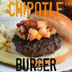 It's time for recipes to make on the grill and this chipotle burger is made with mexican spices and a smokey chipotle sauce.