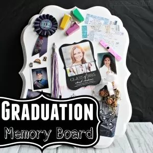 A simple DIY craft to display high school or college memories. A great personalized graduation gift!