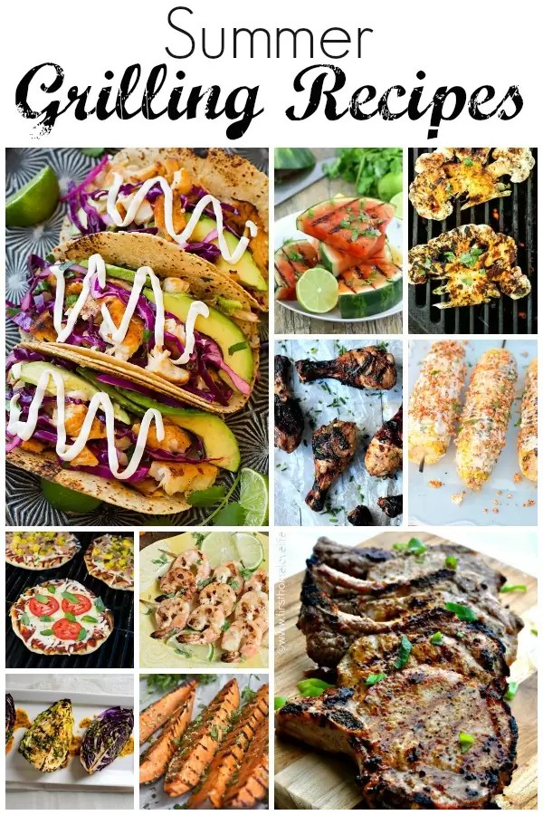 Mouth watering Summer grilling recipes perfect for family gatherings, BBQ, reunions and parties. Start up those grills it's grilling season!