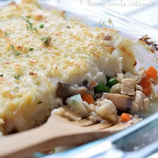This Turkey Shepherd's Pie is an easy Thanksgiving leftovers recipe or just an easy casserole for a cold winter night.