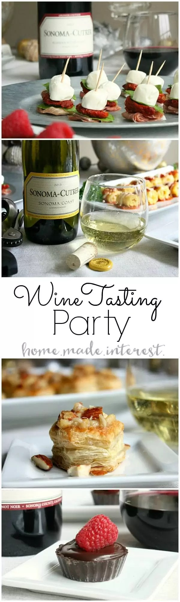 Our Wine Tasting Party was all about trying new foods and tasting new wines. We had so much fun coming up with new recipes to pair with Sonoma Cutrer wines and our guests left happy!