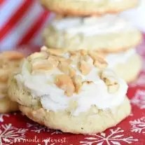 These Frosted Cashew Cookies are one of the best Christmas Cookie recipes you will find! Soft, chewy, cookies filled with cashews and topped with a buttercream frosting. You don't get much better than that!