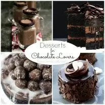 Ultimate rich and decadent chocolate lovers desserts. These chocolate recipes are sure to put a stop to your chocolate craving. Some of these desserts for chocolate lovers are even healthy!