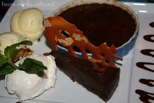 Grouper Caprese_chocolate tart