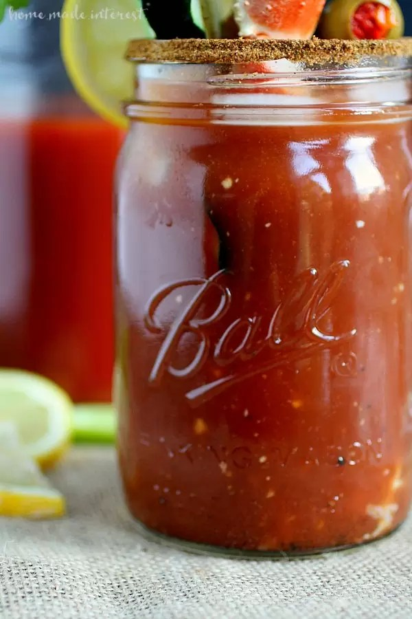 This easy and simple homemade Bloody Mary Recipe is the best you will ever taste. Adding a twist to a classic recipe and making it a Maryland Bloody Mary. A Bloody Mary bar would be a great brunch idea for a wedding or holidays.