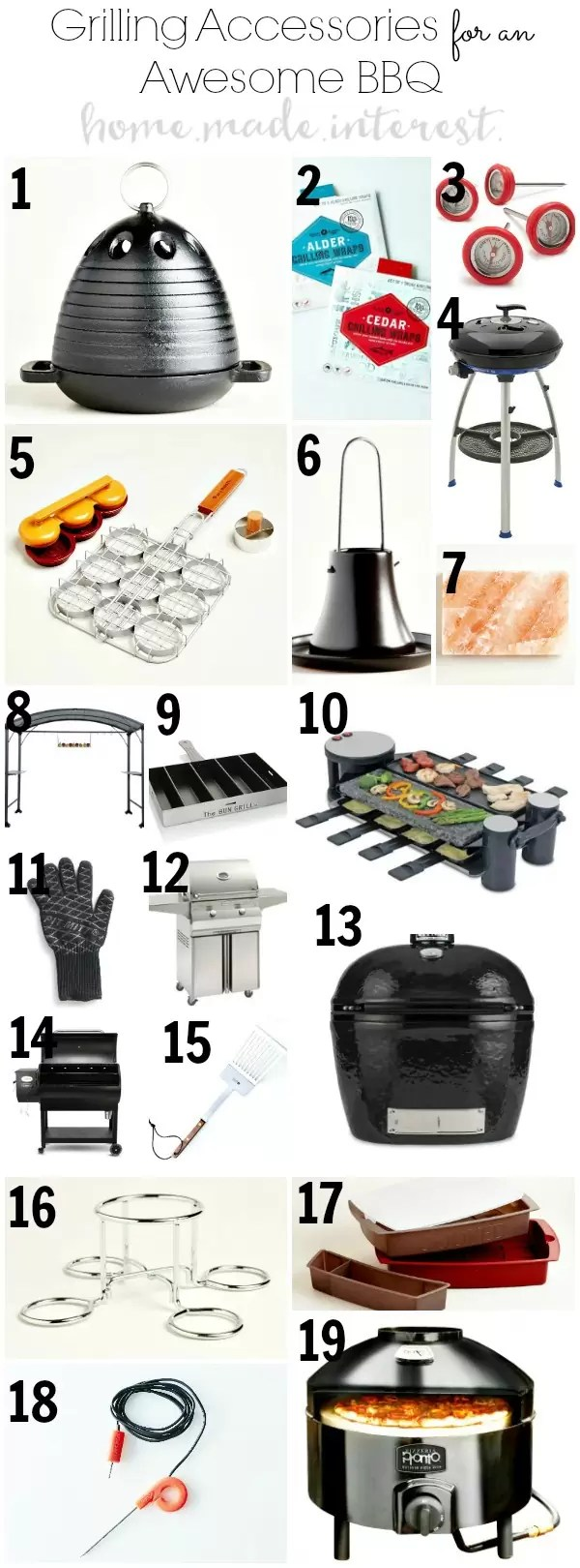 Grilling Accessories for an Awesome BBQ for the grill master in your life. Perfect for Father's Day gift if he loves to grill. Any grilling lover will appreciate these gift ideas. Great summer hostess gifts too.