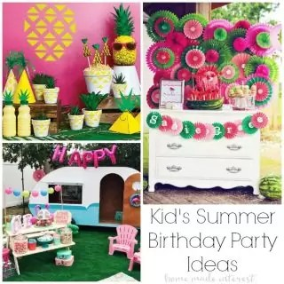 Here's the coolest summer birthday party ideas for kids this year. So many boys and girls themed summer ideas to pick from. Summer party decor, invitations, favors and food to make your party a hit!
