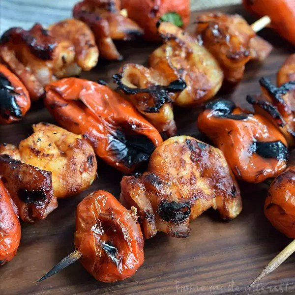 Fire up the grill for this awesome kabob recipe! This grilled BBQ bacon and shrimp skewers are layers of sweet peppers, shrimp and bacon, glazed with your favorite BBQ sauce and grilled over an open flame for a smokey flavor that is out of this world.