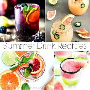 Refreshing fun summer drink recipes that are nonalcoholic and alcoholic. Summer drinks that kids and adults can enjoy.
