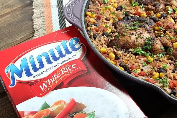 One Pot Mexican Chicken & Rice_minute rice pic