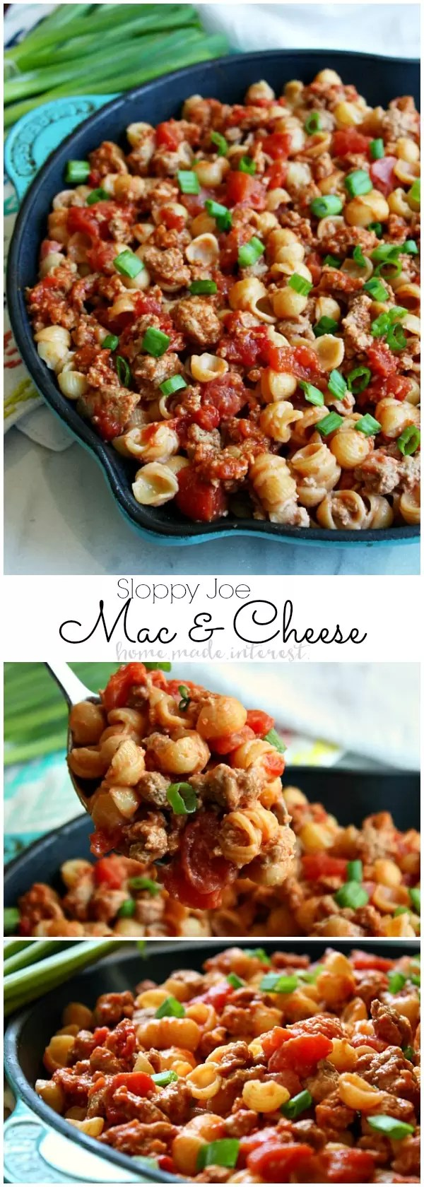 This Sloppy Joe Macaroni and Cheese is a mac and cheese recipe that the whole family is going to love. This macaroni and cheese recipe is made with organic ingredients for an easy weeknight dinner or a quick lunch. Kids are going to love having two of their favorite recipes together in one awesome dish.