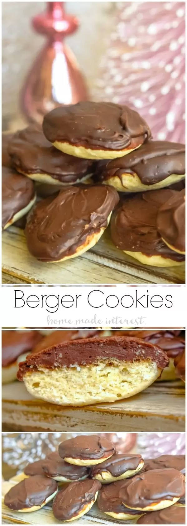 Berger cookies are a symbol of Maryland and if you haven't had one you need to try them! This delicious copycat Berger cookie recipe is a soft, cake-like cookie topped with a mound of rich fudge frosting. These Berger cookies make a great Christmas cookie recipe with a glass of milk. Santa will be so happy to see them!