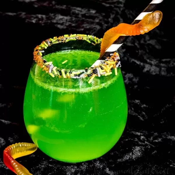 Kids Halloween punch made with ginger ale