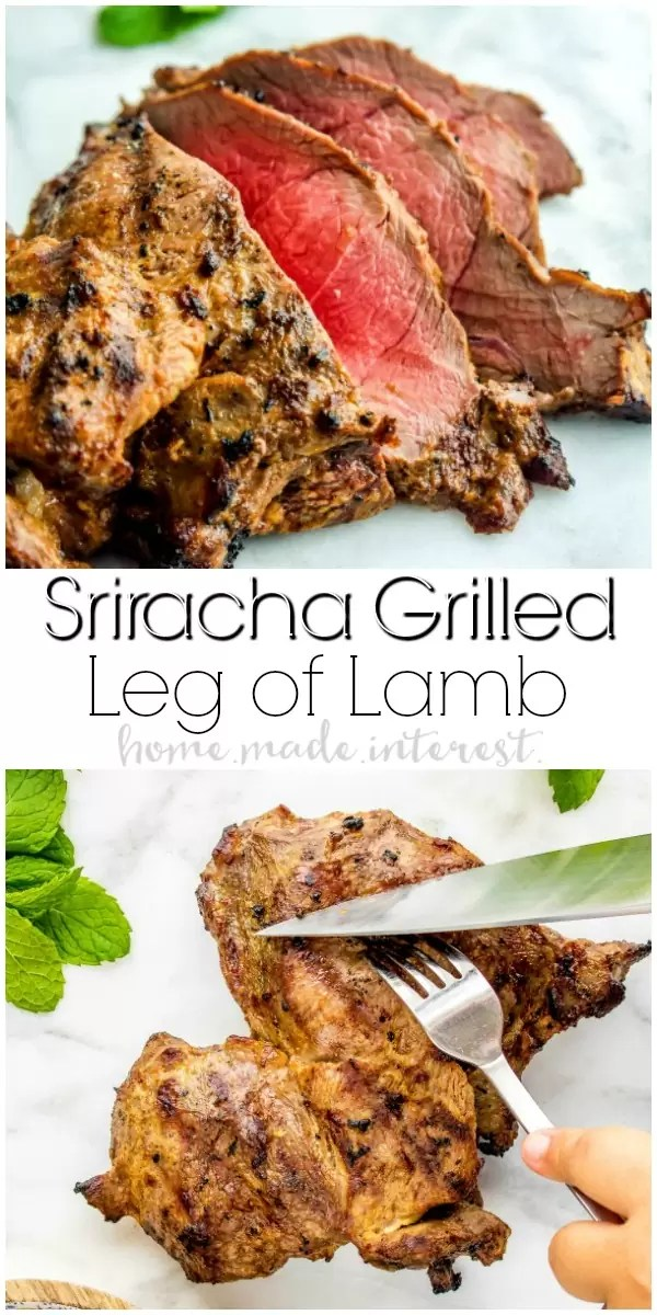 Sriracha Grilled Leg of Lamb | Put a updated spin on a classic recipe! I gave my grilled lamb recipe a little heat by marinating it in a Sriracha marinade. This easy Sriracha Grilled Leg of Lamb recipe adds just the right amount of spice to this grilled lamb recipe. We'll show you how to cook lamb and how to use a Big Green Egg for the best grilling experience.