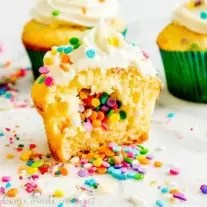 funfetti surprise cupcake