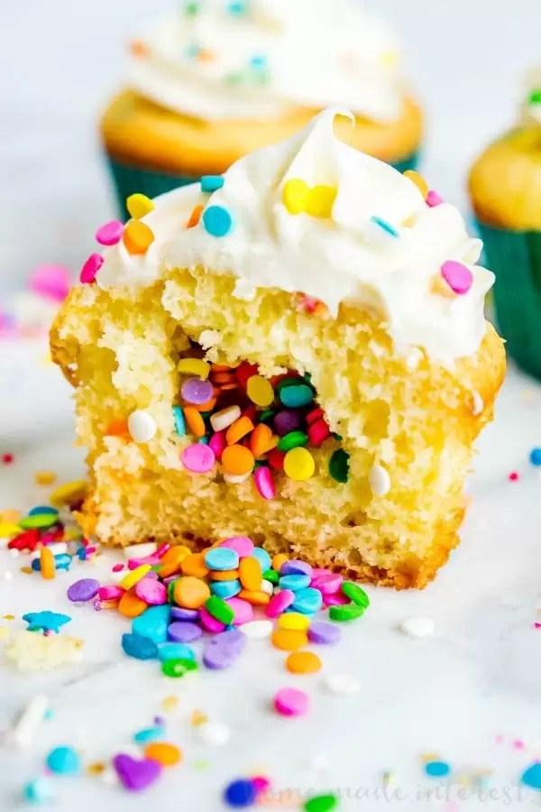 funfetti filled cupcake