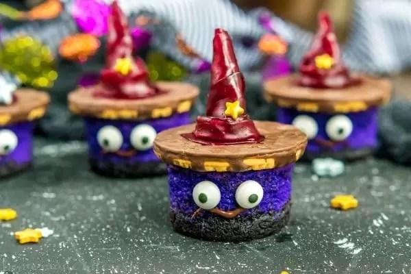 mini cheesecakes for Halloween