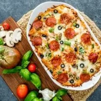 supreme pizza casserole