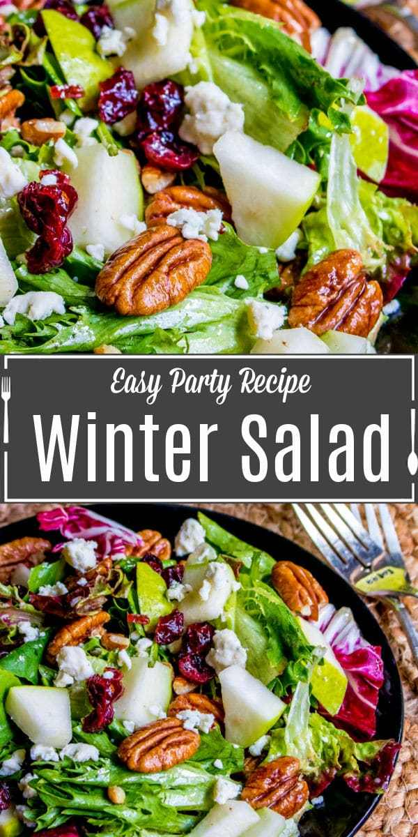 Pinterest image of Winter Salad with title text