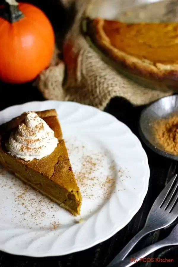 low carb pumpkin pie for Thanksgiving