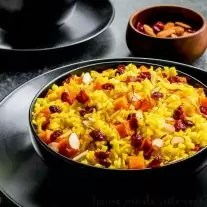 butternut squash and saffron rice