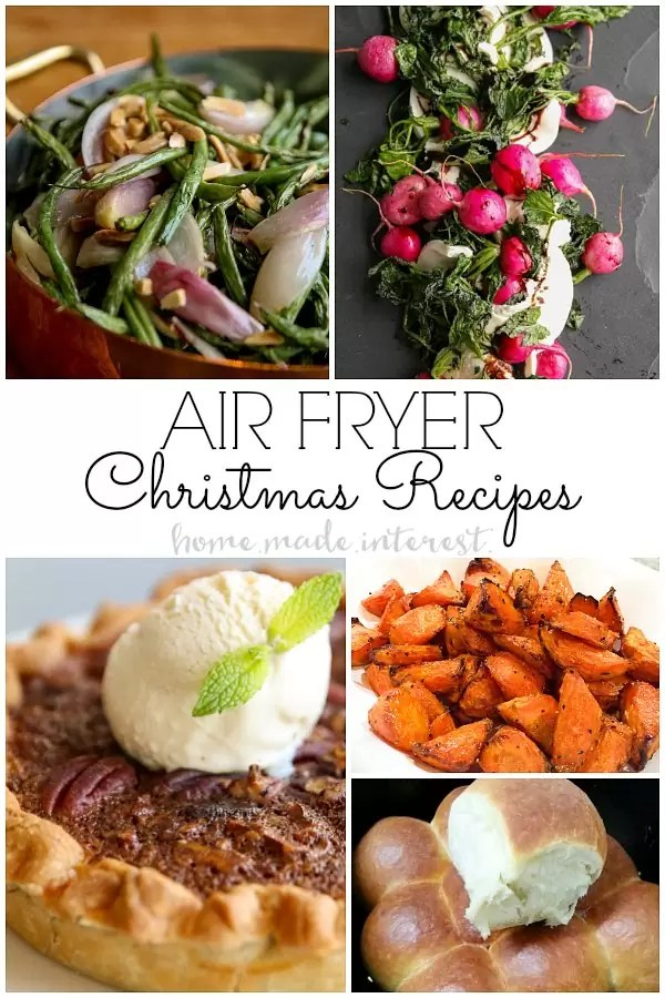 Christmas recipes made in the air fryer. We've got a whole list of Air Fryer Recipes that you can make for Christmas dinner! Save some time and oven space by using your Air Fryer to cook parts of your Christmas dinner.