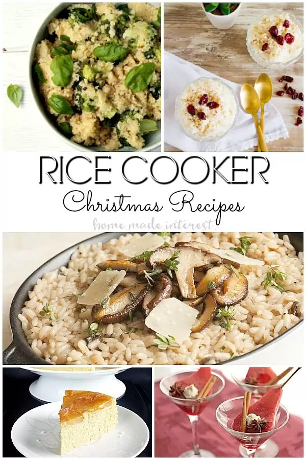 Christmas recipes made in the rice cooker. Who knew there were so many rice cooker recipes? These Christmas dinner recipe make with a rice cooker will free up oven space and save you time.