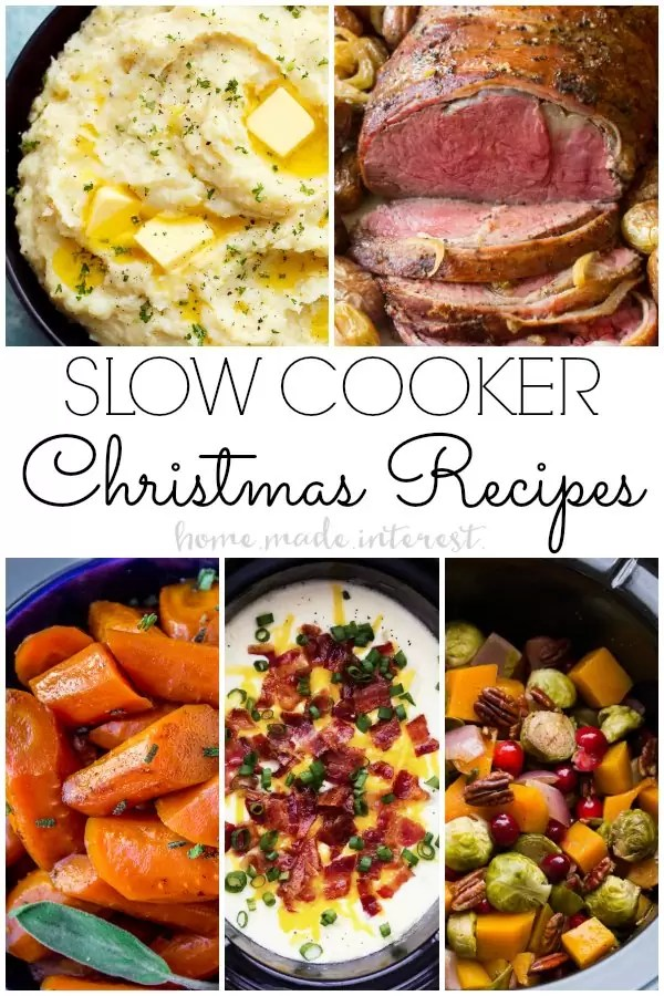 Christmas recipes made in the slow cooker. Who needs an oven when you have a slow cooker? These amazing slow cooker recipes are all Christmas dinner slow cooker recipes.